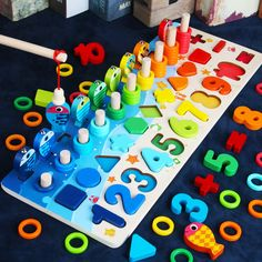 Limited Offer: Montessori Educational Wooden Toys For kids Board Math Fishing Count Numbers Matching Digital Shape Match Early Education Toy. Busy Board, Kids Board, Montessori Education, Montessori Toys, Montessori Bedroom, Montessori Toddler, Learning Numbers, Fun Learning, Autism Learning