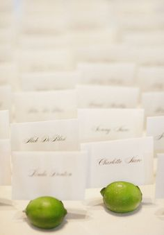 fresh lime placecards