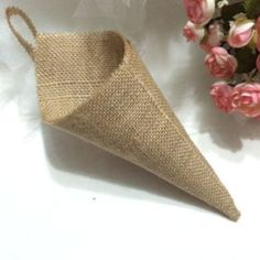 Hessian Burlap Hanging Pew Cone pack of 12 Birthday Party Baby Shower country Wedding Decorations Flower Holder Organizer Diy Reception Decorations, Rustic Country Wedding Decorations, Rustic Decor, Rustic Wedding, Country Weddings, Wedding Reception, Trendy Wedding, Rustic Chic, Chic Wedding