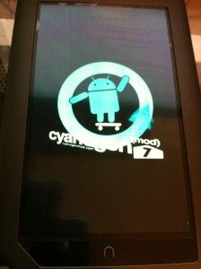 Good step by step for turning your Nook color into an Android Tablet (CM7), also has the cards for sale