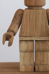 Limited-edition handmade wooden robot toy by Montpellier-based maker thibaut malet