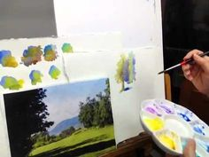 Watercolor painting tips, Painting Sunlit Trees in Watercolor by Judy Mudd - YouTube