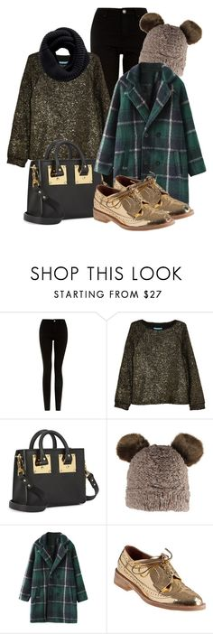 """Gold Shoes"" by km-r7 ❤ liked on Polyvore featuring Alice + Olivia, Sophie Hulme, Barts, Jeffrey Campbell and Pieces"