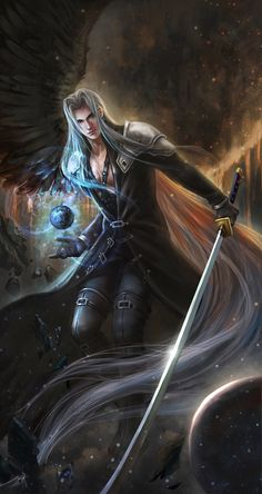Sephiroth and the Black Materia