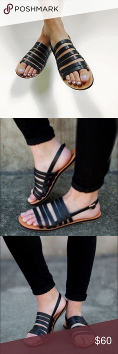 """Black Boho Chic Strappy Gladiator Sandals The black sandal for every outfit. 100% Leather cross straps Ankle strap buckle Heel measures approximately 0.5"""" Platform measures approximately 0.25 inches *Note: While this brand is owned by BC Footwear and sold at Anthropologie , some Of these pieces can be purchased at other retailers. Anthropologie Shoes Sandals"""