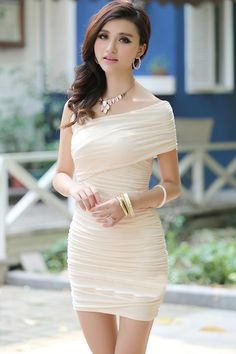 One Shoulder Mini Dress (US$6.79)