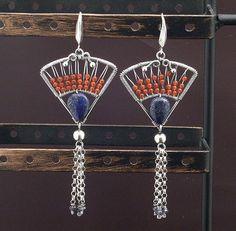 Fan Earrings by MaryTucker, via Flickr