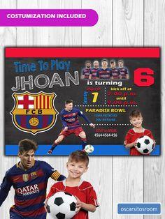 Mira este artículo en mi tienda de Etsy: https://www.etsy.com/es/listing/519532057/invitacion-de-cumpleanos-futbol-club