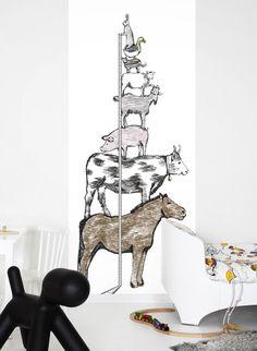 Wandbild animal tower - Tapete für Kinder