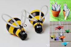 Manualidades infantiles de insectos