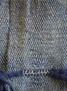 Sashiko mending and reinforcing