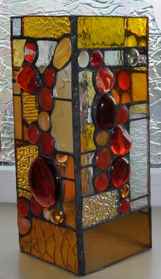 Candle Holder - Stained Glass Stained Glass Lamp Shades, Stained Glass Studio, Making Stained Glass, Stained Glass Projects, Stained Glass Patterns, Stained Glass Art, Mosaic Glass, Glass Candle Holders, Leaded Glass
