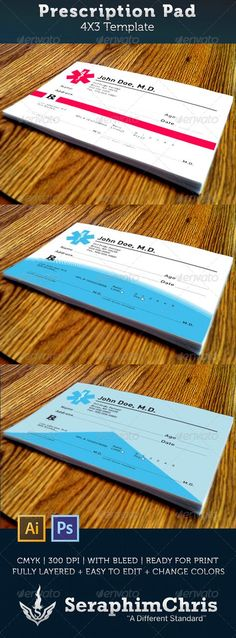 Prescription Pad Template — Photoshop PSD #medical #remedy • Available here → https://graphicriver.net/item/prescription-pad-template/3470001?ref=pxcr