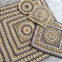 Ravelry: Large Flower Wheel Coaster Square pattern by Saraphir Qaa-Rishi
