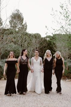 Bridesmaid dress mermaid black