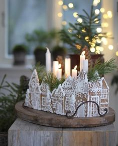 All Things Christmas and Winter Christmas Gingerbread House, Noel Christmas, Christmas 2019, All Things Christmas, Winter Christmas, Christmas Crafts, Xmas, Swedish Christmas Decorations, Gingerbread Houses