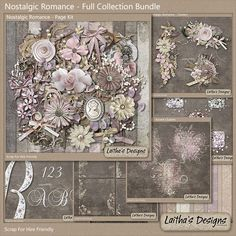 Nostalgic Romance by #LaithasDesigns Stunning colors!  Soft pinks and browns with rich textures and vintage elements.  #thestudio #digitalscrapbooking