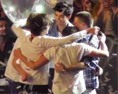 Day 2: Favorite One Direction moment: My favorite moment was when they played MSG!!!!!!! This is them hugging after the show!!