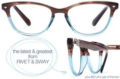 shop the new collection from Rivet & Sway - plus $50 off a pair of frames