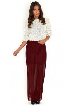 Laurel Chiffon Maxi Skirt-skirts-missguided