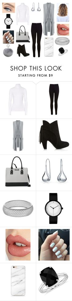 """Monochrome outfit"" by mollyannsmith ❤ liked on Polyvore featuring Michael Kors, Miss Selfridge, Phase Eight, Nine West, Bling Jewelry, Charlotte Tilbury, Blue Nile and Adrienne Landau"