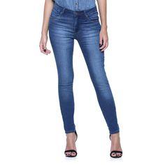 Calça Jeans Skinny Cintura Alta - Damyller