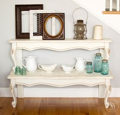 Have an old coffee table that& falling apart? See how this repurposed coffee table gets new life as a stunning entryway table! Furniture Projects, Furniture Making, Furniture Makeover, Home Furniture, Diy Projects, Furniture Websites, Furniture Styles, Table Furniture, Repurposed Furniture