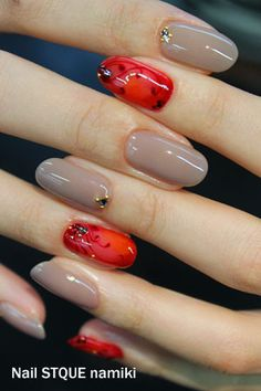 Clear Red Nailの画像 | 広島のネイルサロンNailSTQUE ShimaのBlog