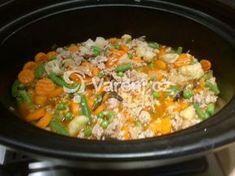 Recept na rizoto upravený pro přípravu v pomalém hrnci. Fried Rice, Macaroni And Cheese, Crockpot, Fries, Vegetables, Ethnic Recipes, Ph, Food, Mac And Cheese