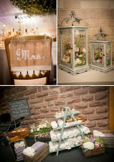 Rustic chic decorations / A Rustic Chic Jewish barn wedding at Heaton House Farm…