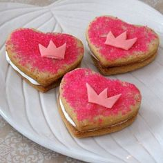 Tiana's Heart to Heart Cookies Recipe inspired by The Princess and The Frog
