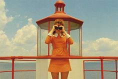 A shot from the Wes Anderson film 'Moonrise Kingdom.' Some homebound viewers find comfort in. Wes Anderson Films, Wes Anderson Characters, Wes Anderson Style, Movie Pic, Movie Shots, Color In Film, Isle Of Dogs, Moonrise Kingdom, Beautiful Film