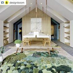 A #repost from @designboom with the awesome studio @nidolab  #vamoslaschicas  a mossy rug suspended desk timber and plants are seeing in estudio nidolabs ideal home office design.  #wherepeoplework #estudionidolab #interiors image by federico kulekdjian by alexkeha