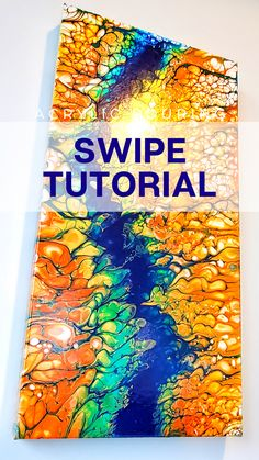 Bright and Glossy Fluid Painting - Tutorial by Olga Soby from Smart Art Materials Pour Painting Techniques, Acrylic Pouring Techniques, Smart Art, Coloring Books, Adult Coloring, Fluid Acrylics, Acrylic Art, Craft Paint, Bright