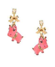 Pink Hippo Earrings - Betsy Johnson.  Very funny.