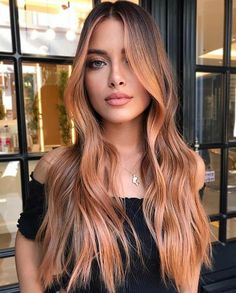 Change Hair Color, Cool Hair Color, Peach Hair Colors, New Hair Colors, Long Hair Colors, Pastel Orange Hair, Cute Hair Colors, Rubin Rose, Strawberry Blonde Hair Color