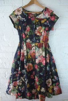 Next-best-to-Vintage floral garden party dresses on sale now! Chantell on Melrose. https://www.facebook.com/chantellboutiqemelrose
