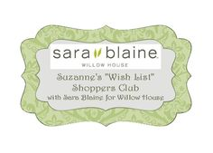 """The best way to get all the Sara Blaine jewelry by Willow house you want, is to host a trunk show but here is another option! I am looking for 12 clients to join my """"wish list"""" Sara Blaine for Willow House shoppers club. You purchase something from your """"wish list"""" or at least a minimum each month and one month per year you are the host and pretty much get everything back with all your host rewards. Contact me to learn more. Taking reservations now!"""