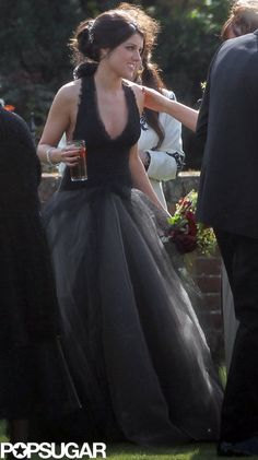 she wore a black wedding dress.  and i LOVE it
