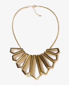 Geo Fringe Statement Necklace From @Forever 21