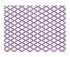 Kilim exterior en fibra sintética Fez - morado