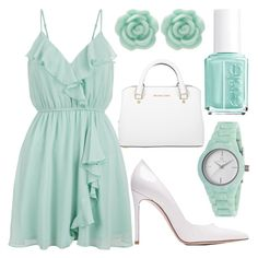"""""""sunday brunch"""" by j-n-a ❤ liked on Polyvore featuring Clyda, Michael Kors, Gianvito Rossi, New Look, LC Lauren Conrad and Essie"""