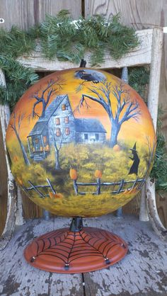 Halloween globe, I have two just lying around think I may have to find myself an artist....lol