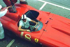Carroll Shelby driving a Ferrari at the 1958 Cuban GP