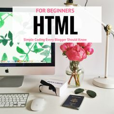 Here are the HTML for Beginner basics that every blogger should know. The beauty of Wordpress is that not much coding is needed but these are so easy!
