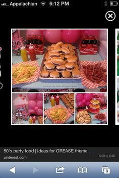 Grease party food ideas