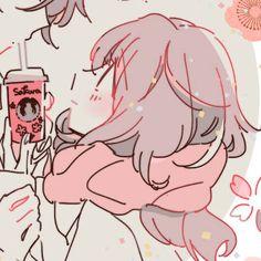 [ m a t c h i n g ] Anime Couples Drawings, Anime Couples Manga, Cute Anime Pics, Anime Love, Anime Art Girl, Anime Girls, Couple Avatar, Cute Anime Coupes, Anime Triste