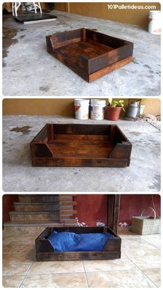 DIY Wood Pallet Dog Bed | 101 Pallet Ideas