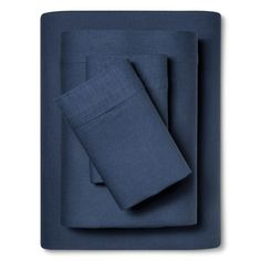 Linen Blend Sheet Set (Cal King) Metallic Blue - Threshold