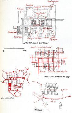 Universität Zurich, Switzerland Heinrich Stickler, Jacob Zweifel. Competition 1966 Source: Architecture d'Aujourd'hui n. 137